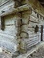 Maison à empilage de planches des Jouandis, Angle.jpg