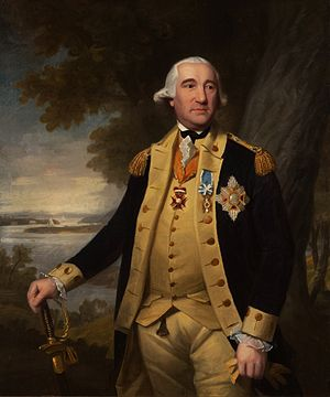 Battle of Blandford - General Baron von Steuben, painting by Ralph Earl