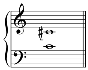 Septimal diatonic semitone - Image: Major diatonic semitone on C