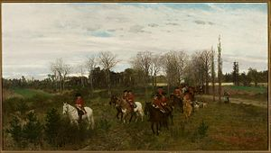Maksymilian Gierymski - Maksymilian Gierymski, A Hunting Party, 1871
