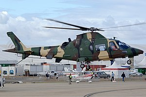 Malaysian Army - Malaysian Army Agusta A-109E LUH, armed with 20mm gun and rockets for area suppression.