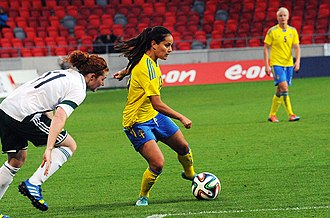 Malin Diaz - With Sweden in May 2014