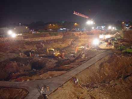 Digging the foundation for a building construction in Jakarta, Indonesia Mall culture jakarta57.jpg