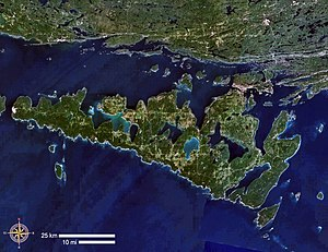 Manitoulin Island - Satellite image of Manitoulin Island