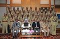Manmohan Singh, in New Delhi on December 30, 2011. The National Security Advisor, Shri Shivshankar Menon and the Union Home Secretary, Shri R.K. Singh are also seen (3).jpg