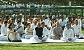 Manmohan Singh at the all religion prayer meeting on the 16th Martyrdom Day of the former Prime Minister Rajiv Gandhi at Vir Bhoomi in Delhi on May 21, 2007.jpg