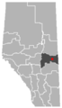 Mannville, Alberta Location.png