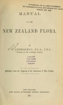 Manual of the New Zealand Flora.djvu