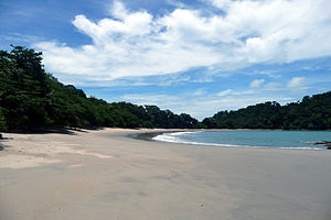 empty beach at Manuel Antonio National Park - ...