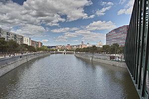 Manzanares (river) - Manzanares river passing through Madrid