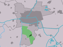 Location in the Leeuwarden municipality