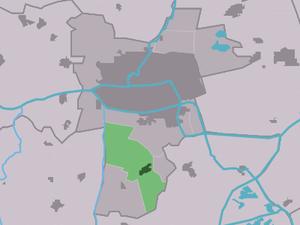 Wirdum, Friesland - Image: Map NL Ljouwert Wirdum