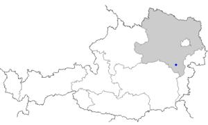 Ternitz - Image: Map at ternitz