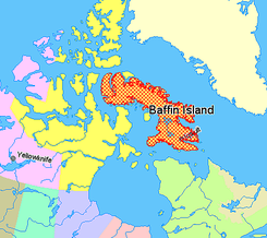 Map indicating Baffin Island, Nunavut, Canada.png