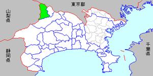 Fujino, Kanagawa - Image: Map kanagawa fujino town p 01 01