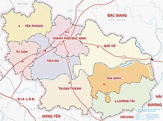 Gia Bình District District in Red River Delta, Vietnam