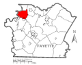 Map of Jefferson Township, Fayette County, Pennsylvania Highlighted.png