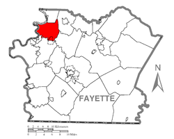 Location of Jefferson Township in Fayette County