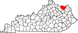 Map of Kentucky highlighting Lewis County.svg