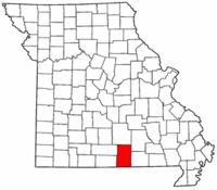 Map of Missouri highlighting Howell County.png