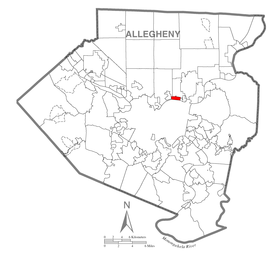 Map of Sharpsburg, Allegheny County, Pennsylvania Highlighted.png