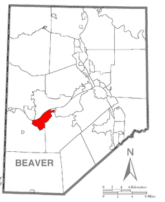 Map of Shippingport, Beaver County, Pennsylvania Highlighted.png