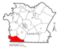 Map of Springhill Township, Fayette County, Pennsylvania Highlighted.png