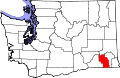Map of Washington highlighting Columbia County.svg