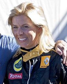 Female Ferrari Race Car Driver