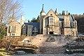 Marble Village Lockheart Castle, Lockheart Castle exterior and steps, in 2009-12-26.jpg