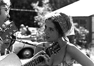 Singer Maria Muldaur in 1969, wearing a gypsy-...