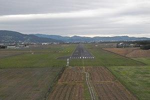Maribor Edvard Rusjan Airport - Image: Maribor airport from airplane (2)