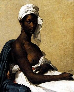 Marie-Guillemine Benoist - Marie-Guillemine Benoist Portrait d'une négresse 1800, Musée du Louvre.
