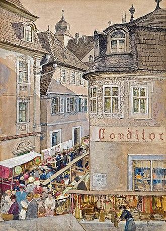 Marie Egner - Weekly Market in Marktbreit (date unknown)