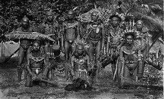 Marind people - Image: Marind Anim men dressed for ceremony, south coast Dutch New Guinea