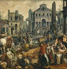 Market Scene with Ecce Homo