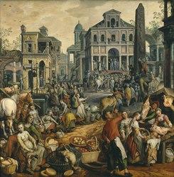 Joachim Beuckelaer: Market Scene with Ecce Homo