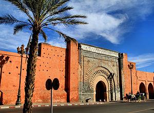 Bab Aganou gate in Marrakech
