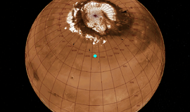 Mars Phoenix lander close 125.74922W 68.21883N.png