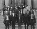 Marshall, Saline County, Missouri in the war. Twenty (African American) men left for Camp Funston, . . . - NARA - 533568.tif