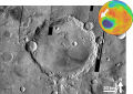 Martian impact crater Schaeberle based on THEMIS Day IR.png