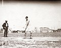 Martin Sheridan of the Greater New York Irish Athletic Association throwing a discus at the 1904 Olympics.jpg