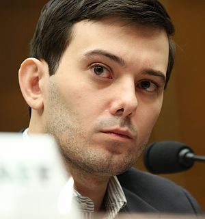 Martin Shkreli - Shkreli testifying before the House Committee on Oversight and Government Reform, 2016