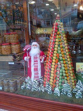 Marzapane di Natale in Göztepe, Kad?köy, Istanbul.