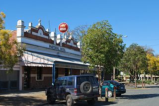 Mathoura Town in New South Wales, Australia