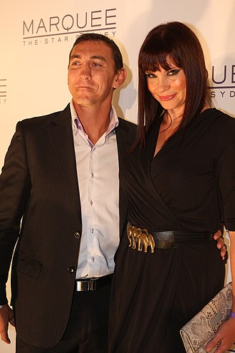 Mat Rogers - Mat Rogers with wife Chloe Maxwell, 2012