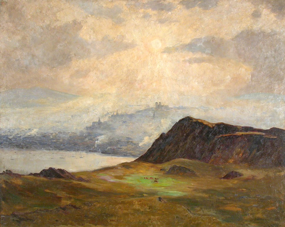"Maurice Cullen. ""A Misty Afternoon, St. John's, Newfoundland."" (1910), oil on canvas. 122.5 cm x 153.25. The Rooms Provincial Art Gallery Collection, Gift of the National Art Gallery of Canada"