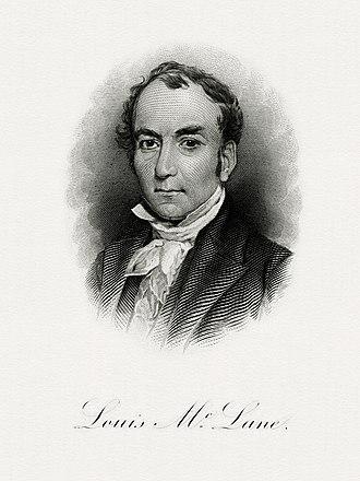 Louis McLane - BEP portrait of McLane as Secretary of the Treasury