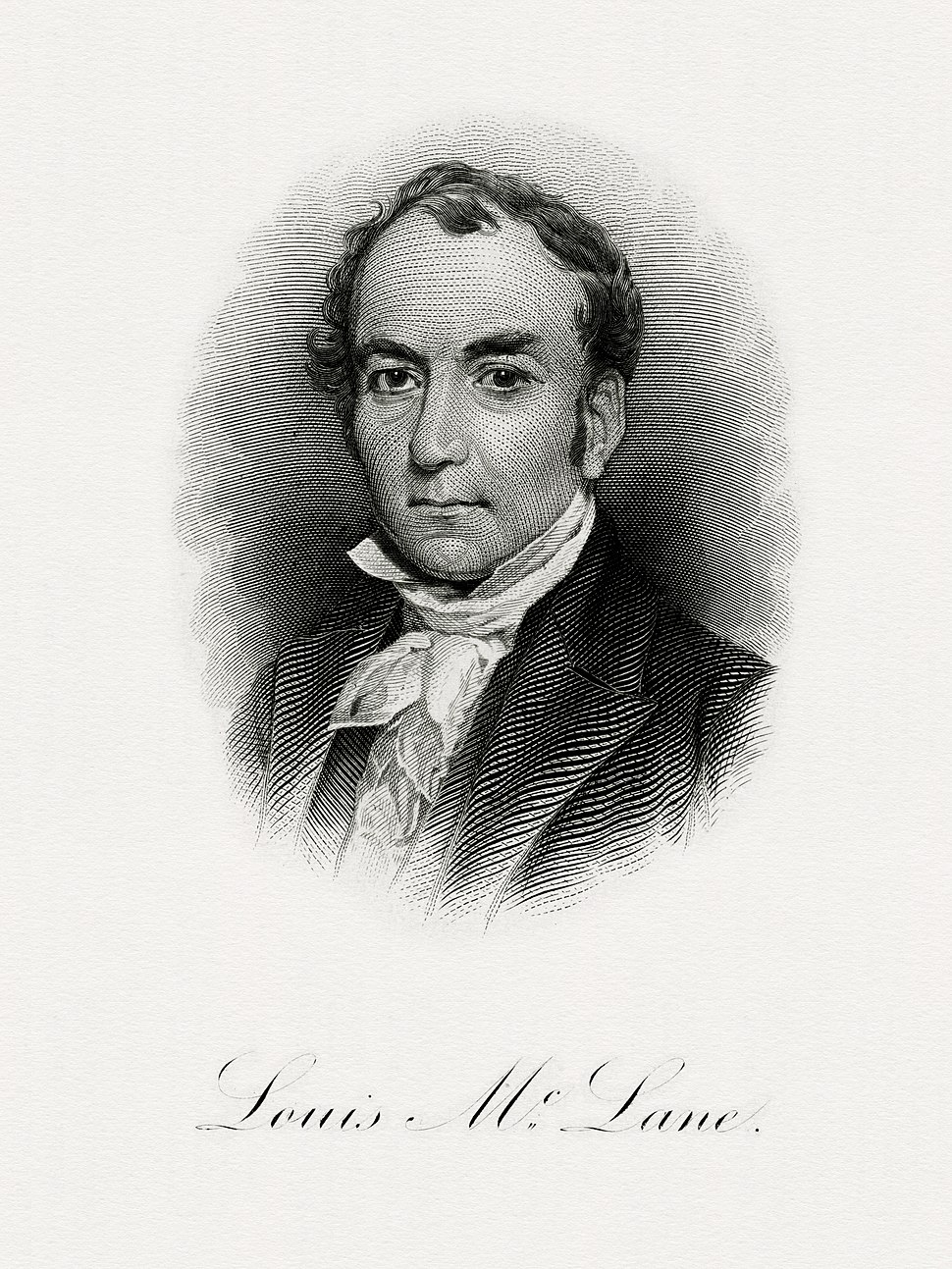 McLANE, Louis-Treasury (BEP engraved portrait)