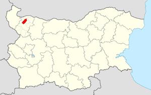 Medkovets Municipality - Image: Medkovets Municipality Within Bulgaria